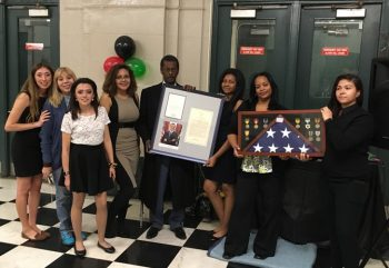 image of the non-profit group comprized of teens who raised money for homeless Veterans