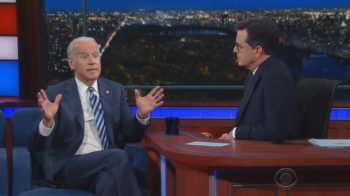 Vice President Biden on the Late Show