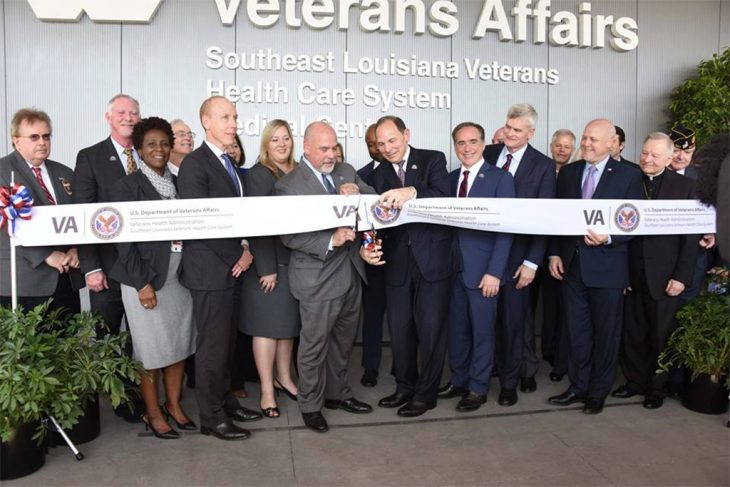 Celebrating the grand opening of the New Orleans VA hospital