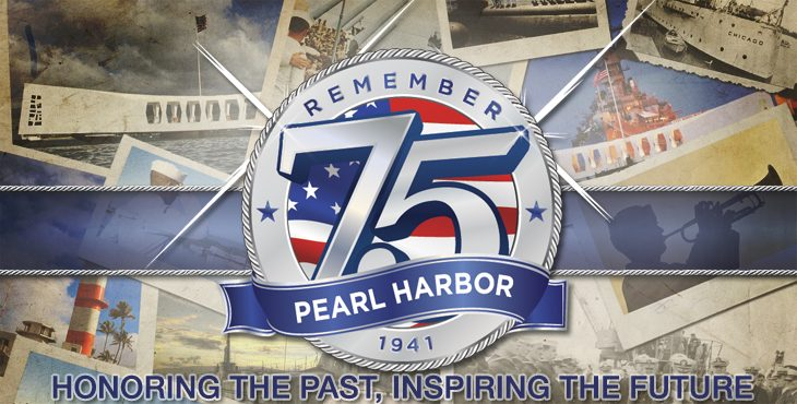 Pearl Harbor 75th Anniversary Featured Graphic - Remember Pearl Harbor - 1941 - 75 - Honoring the Past, Inspiring the Future