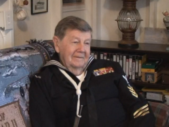 image of Paul Weiser wearing his Navy uniform