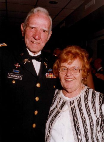 picture of Joe Farinholt and his wife, Reds, at a military ball.
