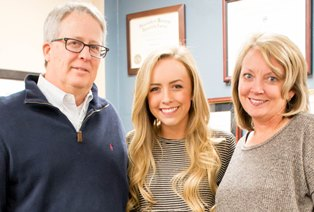 James Parke Memorial Scholarship Katie Gardner and her parentsJames Parke Memorial Scholarship Katie Gardner and her parents