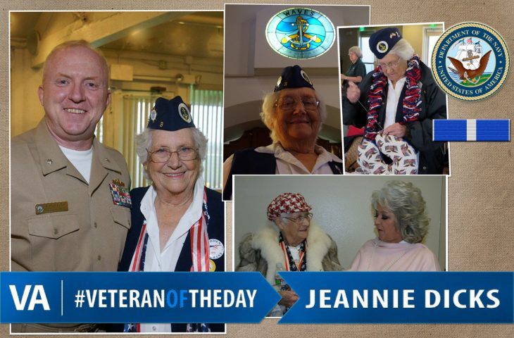 Jeannie Dicks - Veteran of the Day