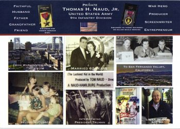 Funeral card for CPL Naud, second side. Made by his family.
