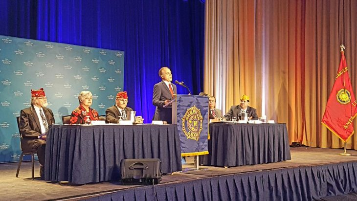 VA Secretary Shulkin speaks with Veterans at American Legion conference