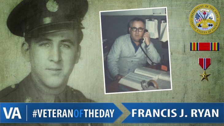 #VeteranOfTheDay Army Veteran Francis Joseph Ryan
