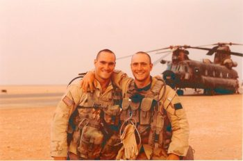 image of Pat Tillman deployed