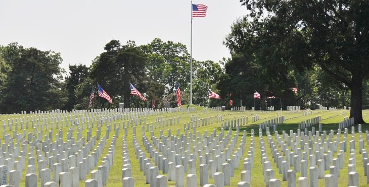 "Rifle volleys at VA national cemetery inspire student to pen essay on ""The America I believe in"""