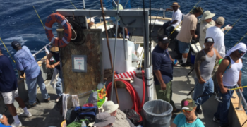 Approximately 20 VAGLAHS physical medicine and rehabilitation Veteran patients participated in a deep sea fishing trip sponsored by LA South Bay angler Larry Brown and donors from LA Rod and Reel Club and Marina Del Rey Anglers.