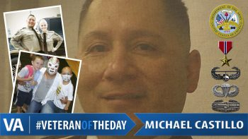 Veteran of the day Michael Castillo.