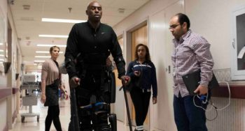 ReWalk – Army Veteran Eugene Simpson walks with the assistance of the ReWalk exoskeleton system in the Spinal Cord Injury unit of McGuire VA Medical Center in Richmond, Virginia. Simpson is one of several participants in a study at McGuire aimed towards using the ReWalk system to help gain independence and improve quality of life for paralyzed Veterans.