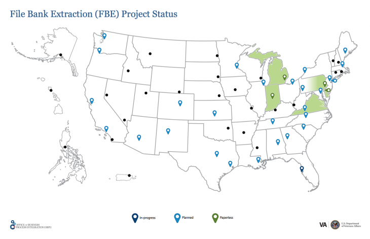 Map of filebank project locations