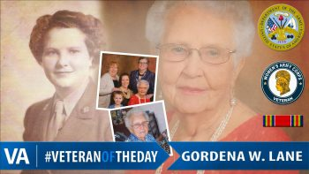 Veteran of the Day Gordena Lane