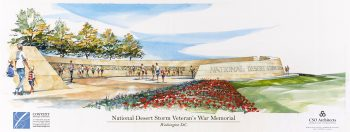 A Phase 1 rendering of the National Desert Storm War Memorial.
