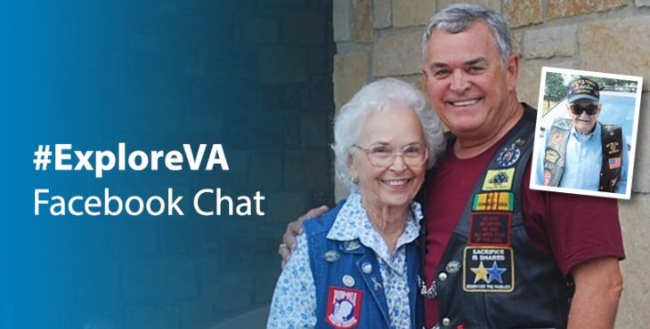 IMAGE #ExploreVA graphic featuring a man and a woman embracing.