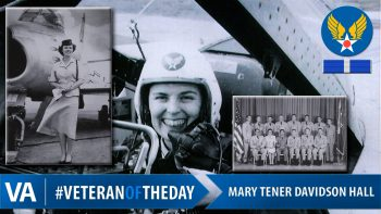 #VeteranOfTheDay is Air Force Veteran Mary Tener Davidson Hall.