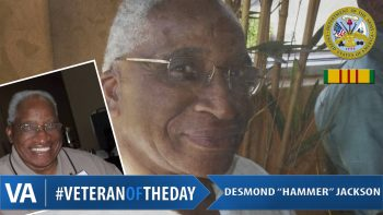Desmond Jackson - Veteran of the Day