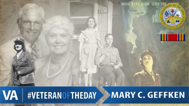 #VeteranOfTheDay Mary V. Cowan Geffken