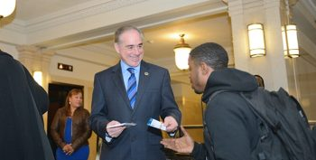 IMAGE: VA Secretary David J. Shulkin, Interim Deputy Secretary Scott R. Blackburn, and Chief of Staff Vivieca Wright Simpson greeted and personally thanked VA employees for their service at the VA Central Office