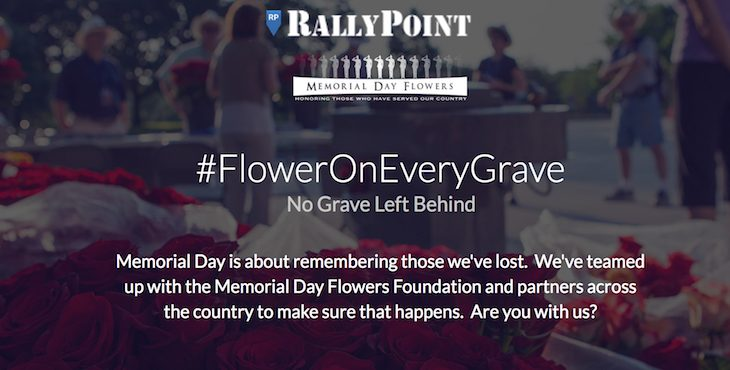 Graphic: #FlowerOnEveryGrave @RallyPoint