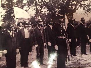 IMage of African American Troops from the late 1800s.