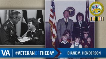 Veteran of the day Diane Henderson