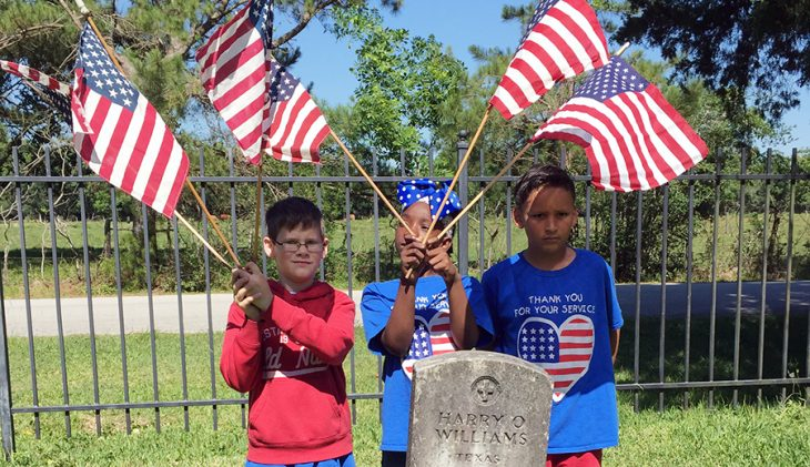 Teaching the next generation: Third graders, Texas Veterans honor fallen heroes