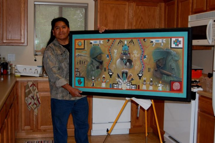 Army Veteran's visual tribute to Hopi code talkers earns national recognition
