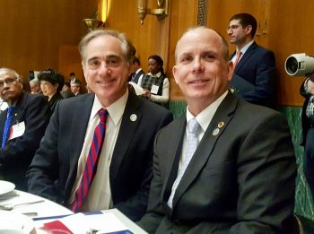 VA secretary Dr. David Shulkin and Rory Cooper, a 2017 Samuel Heyman Service to America Medals finalist.