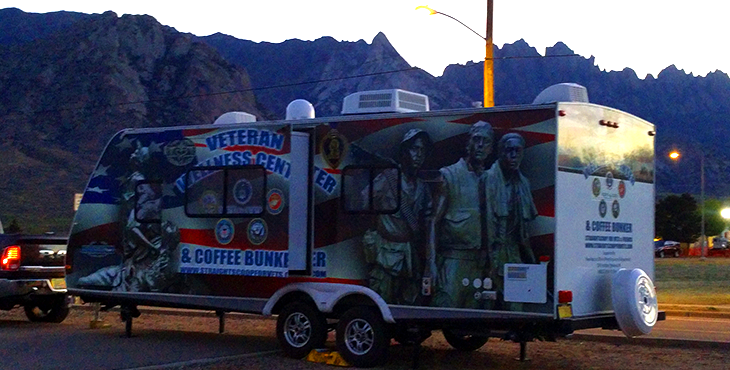 Image of the mobile coffee bunker