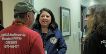 IMAGE: Ms. Nelson (Phoenix) during recent PIT count in Phoenix , Arizona.