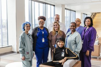 VA Nurses from different specialties come together