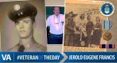 #VeteranOfTheDay Air Force Veteran Jerold Eugene Francis