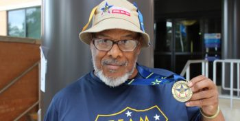 IMAGE: Air Force Veteran and Shreveport, Louisiana resident Jackie Perry brought home the gold during the 2017 National Veterans Golden Age Games in Biloxi, Mississippi, held in May.