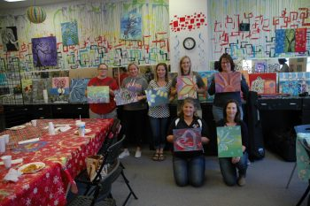 The Rejuvenators — Kneeling, L to R: Jennifer Kerkman and Dorinda Brown. Back row, L to R: Jennifer Dillin, Cecilia Buchanan, Lindsey Rust, Ashley Allen, Heather Feigner
