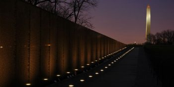 IMAGE: Vietnam Memorial Wall at night
