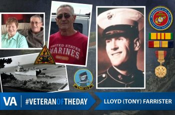 Tony Farrister - Veteran of the Day