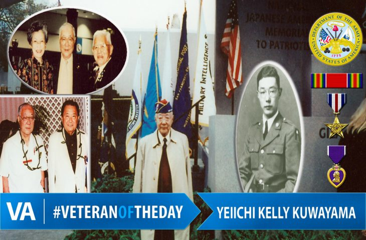 "#VeteranOfTheDay Yeiichi ""Kelly"" Kuwayama"
