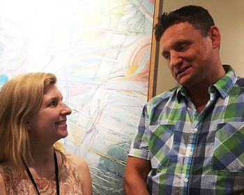 Dr. Marion Eakin, Director of the Mental Health Clinic and Army Veteran Greg Kolodziejczyk