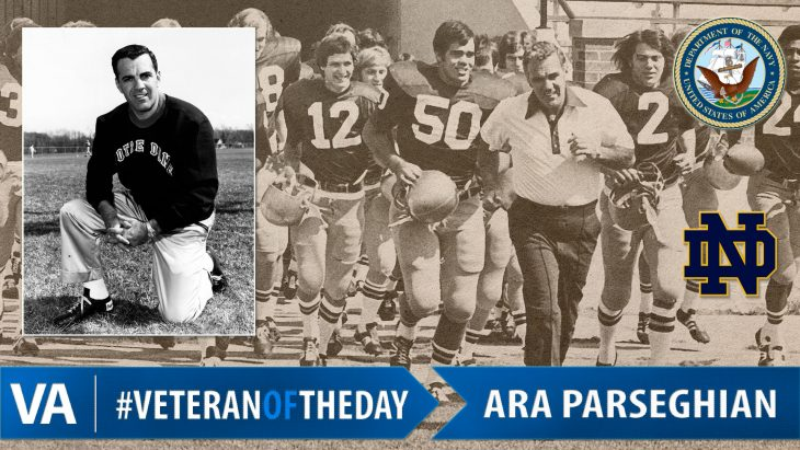 Ara Parseghian - Veteran of the Day
