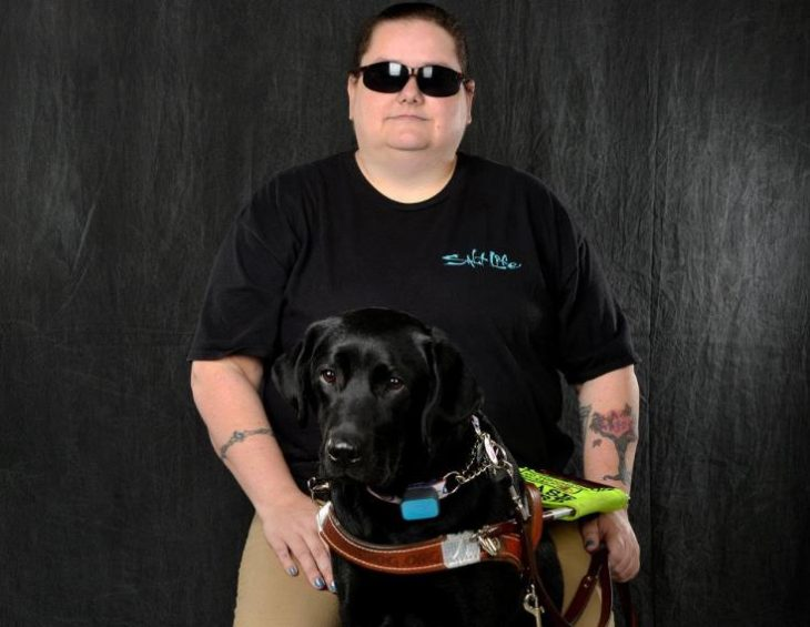 Christina Collins with service dog