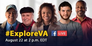 IMAGE: EXPLOREVA graphic feature a diverse group og people/Veterans