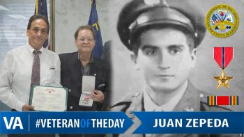 Juan Zepeda - Veteran of the Day