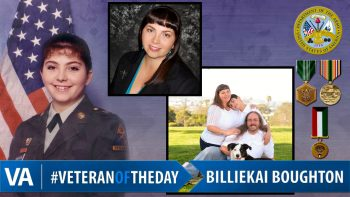 Billiekai Boughton - Veteran of the Day