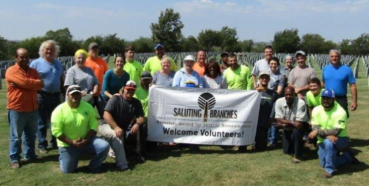 Volunteer arborists unite to beautify VA national cemeteries