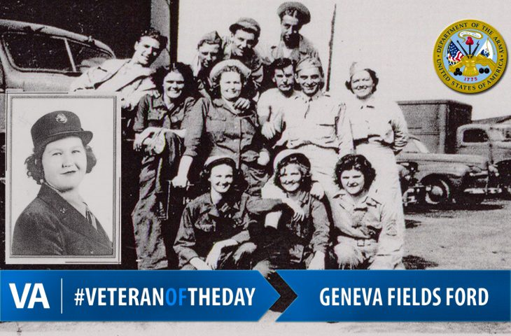 #VeteranOfTheDay Geneva Fields Ford