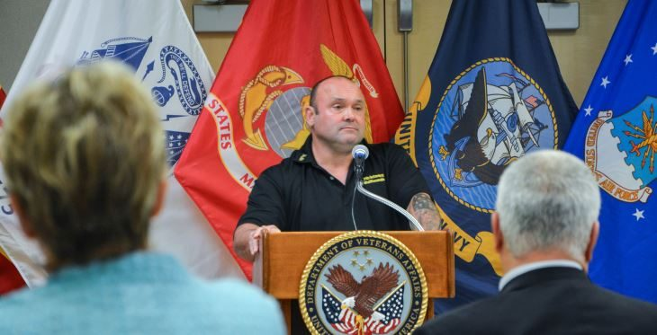Image: Marc Raciti, a retired Army major with 24 years or service, was the keynote speaker at the inaugural Be There Phoenix Resource Fair.