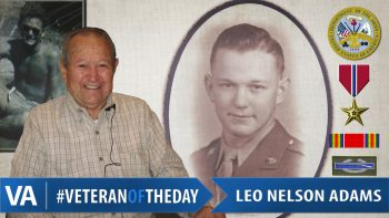 Leo Nelson Adams - Veteran of the Day
