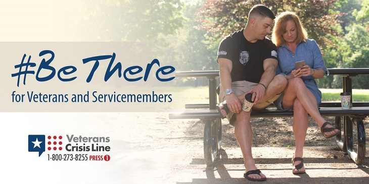 Image: #BeThere graphic for suicide prevention month